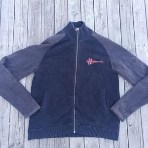 Harley Davidson lined full zip sweater